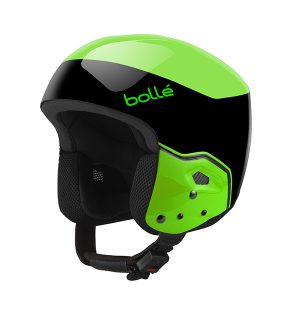 Medalist Black & Flash Green Race Helmet