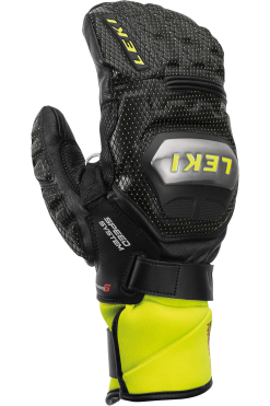 Leki WC Titanium S Speed System Mitten - Black Ice Lemon