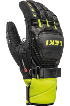 Leki WC Race Coach Flex S GTX - Black Ice Lemon